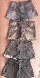 4 lindos shorts jeans - ecoclube - tamanho 36