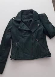 jaqueta verde musgo escura