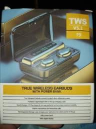 Fones Bluetooth TWS F9 c Microfone