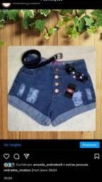 Short jeans sem laycra TAM 36/44