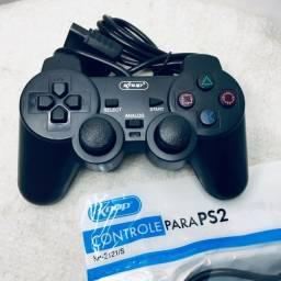 Controle p/ PS2 com Fio Knup (entrega grátis)