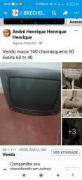 Tv 20 polegadas 50,lixeira para calçada 70,churrasqueira 60