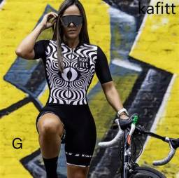 Macaquinho feminino de ciclismo Kafitt 1ª linha