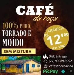500g Café  Arábica  100% Puro Natural Sem Mistura Torrado Moído