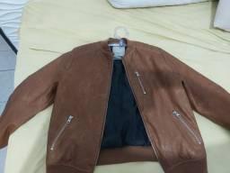 Jaqueta de couro da zyra