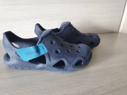 Crocs original Comfort Iconic - Swiftwater Wave K Infantil Semi  novo
