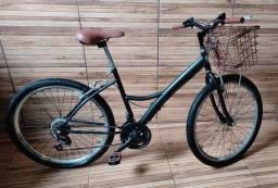 Bicicleta com cestinha aro 26