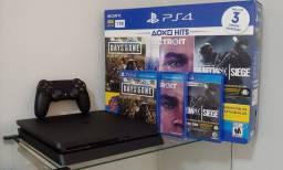 PlayStation 4 Ps4 Slim 1TB + 3 Jogos / Troco / Parcelo 12x 198