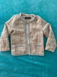 Casaco de lã infantil feminino