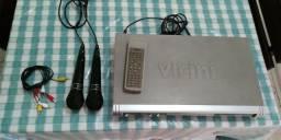 DVD Karaokê - Vicine c/ 2 microfones Novos