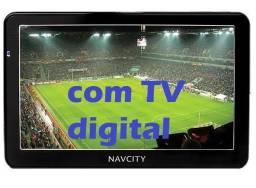 Tv digital e gps com carregador navcity nc450 por 145 reais