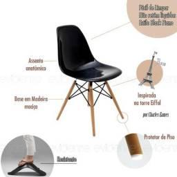 Cadeira Charles Eames Wood Eiffel - Frete Grátis