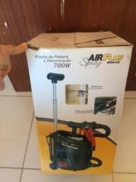 Pistola de pintura e pulverização air plus schulz 700w