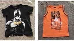 Camisetas verão tamanho 4
