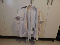 02 Kimonos Shiroi Jiu Jitsu Karate Judô Muay Thai MMA Taekwondo Karate