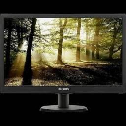 "Monitor Philips LED Tela 18.5"" HD Widescreen 193V5LSB2/57"
