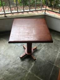 Mesa em Madeira com Pé Central 60x60 Ótimo Estado (leia a descrição)