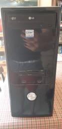 PC sem HD - Gabinete PC (placa mãe e leitor Cd) + Teclado + Estabilizador