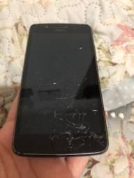 Moto g5 com tela quebrada