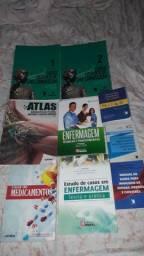 Vendo está coleção de livros para estudo de Enfermagem.