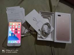 iPhone 7plus Gold 32gb completo sem detalhes faço troca e aceito cartão
