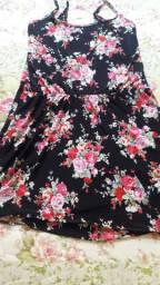 Vestido Florido Seminovo Tamanho M