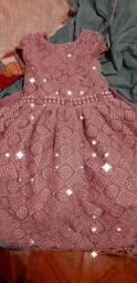 Vestido lilás Infantil para Festa