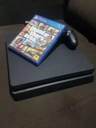 PS4 SLIM 500GB + 22 JOGOS MIDIA DIGITAL + 1 JOGO MIDIA FISICA + 1 CONTROLE