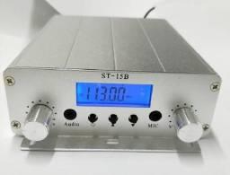 Transmissor de rádio FM 15 watts novo