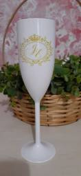 Taças para champagne personalizada.