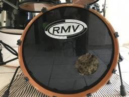 Bateria RMV S/caixa , S/pedestal, s/pedal apenas tambores + chimbal e máquina