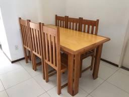 Mesa e cadeiras, Madeira de Lei!!