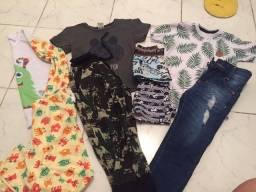 Lote 55 reais roupas d menino 2-3 anos