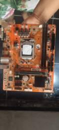 Placa Mae PCWare IPMH110G Soquete 1151 + Processador