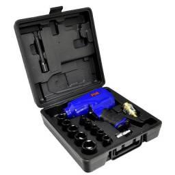 Título do anúncio: Kit Chave de Impacto Pneumática 1/2 Pol. 7000RPM com Maleta e 14 Acessórios