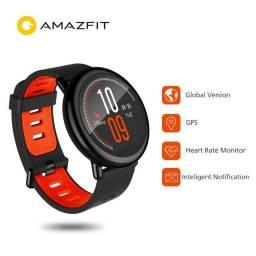 Smartwatch Amazfit Pace Ritmo C/Gps. Preto e Vermelho