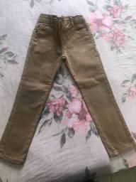 Calça jeans marrom infantil TAM 4
