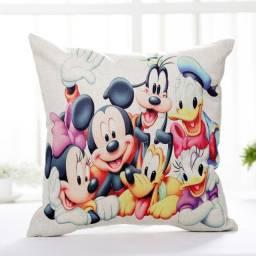 Almofada Infantil Disney Mickey Pateta Pato Donald Sofá Casa Decoração 43cm