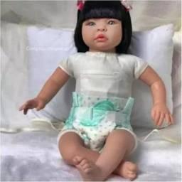 Bebê Reborn Boneca Realista 53cm Enxoval Sonho De Amor