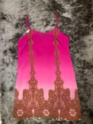 Vestido rosa de alça