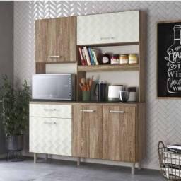 Cozinha Iara 140 Nicioli, 4 Portas e 2 Gavetas - Entrega Imediata;