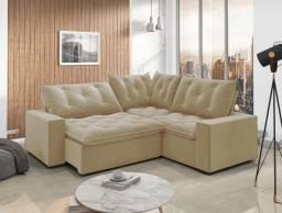 Sofa canto Retrátil Reclinável Londres Bege