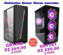 Gabinetes Gamer Leds Rgb Lateral em Vidro Fans 12cm Novo Lacrado