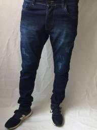 Calça jeans e sarja masculina com elastano skinny