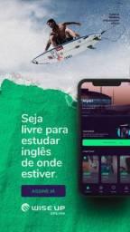 Plataforma para aprender inglês em qualquer lugar