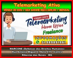Telemarketing Home Office comece a trabalhar hoje