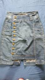 Saia jeans tamanho 40