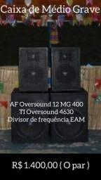 Caixa de Médio Grave 12/400 + TI 4630 + Divisor de frequência EAM