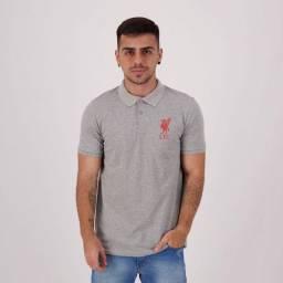 Camisa Polo Liverpool Piquet Cinza