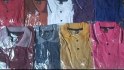 5 camisas gola polo por 100